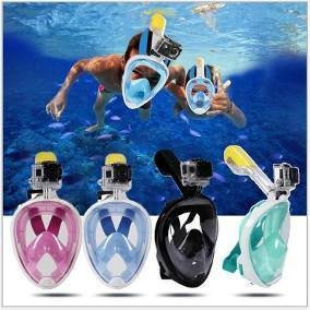 mascara buceo careta snorkel full face gratis tula go pro