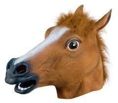 mascara cabeza de caballo de latex calidad halloween