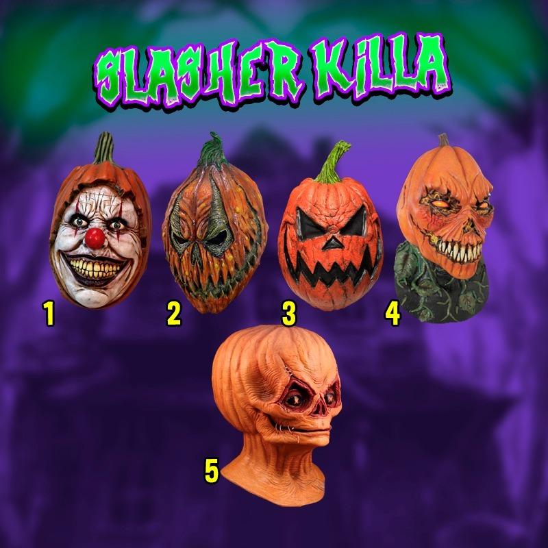 Mascara Calabaza Terrorificas Modelos Deluxe Halloween Latex - Imagenes-terrorificas-de-halloween