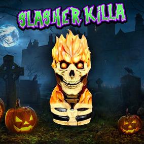 Mascara Calavera Fire Skull Disfraz Deluxe Halloween Terror