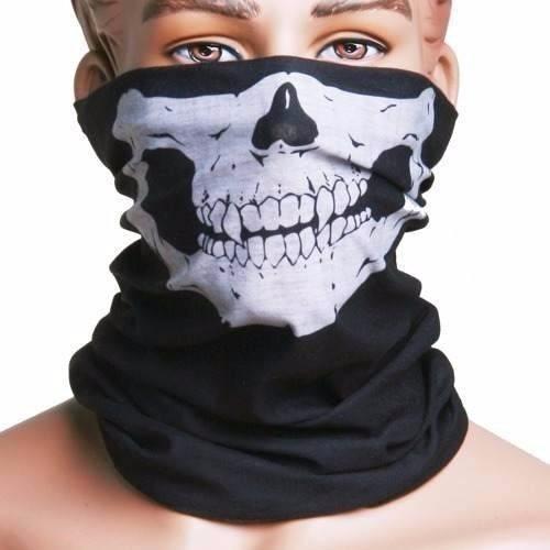 máscara calavera moto bicicleta en tubo sin costura