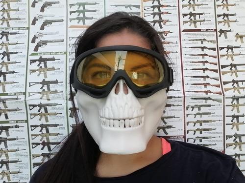 máscara calavera para airsoft y paintball