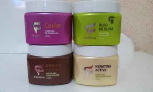 máscara capilar fashion cosméticos - 04 unidades