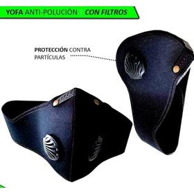 Máscara Careta Anti Humo, Polución Moto Bicicleta Con Filtro