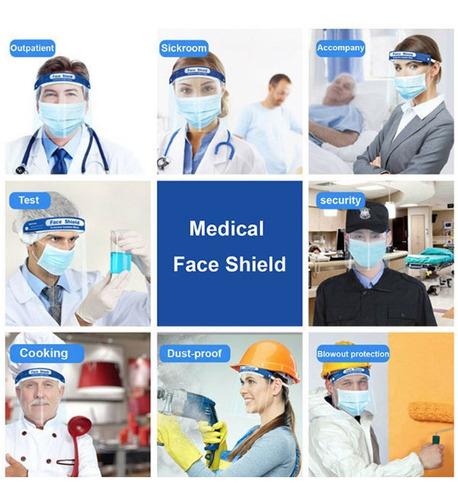 mascara careta protector facial antifluido antisalpicaduras