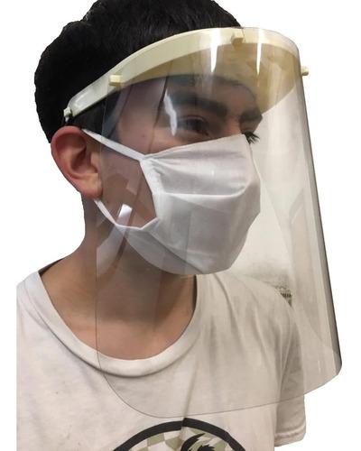 máscara careta protectora facial plastica reutilizable x 2 u