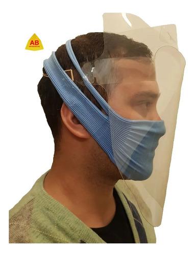 máscara careta protectora facial transparente plastica  ab