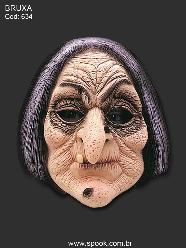 Mascara Carnaval Bruxa Madame Mim Maga Patalogica Feiticeira R