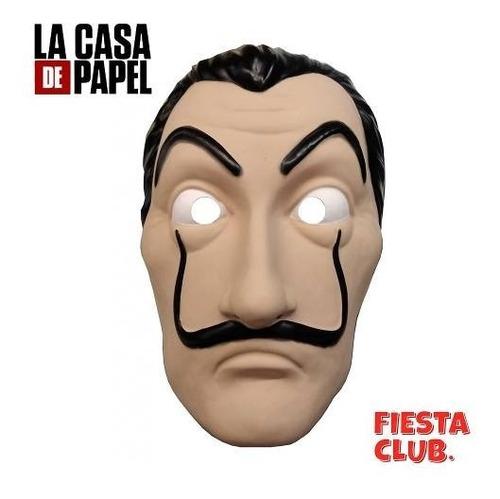 mascara casa de papel salvador dali bella ciao fiestaclub