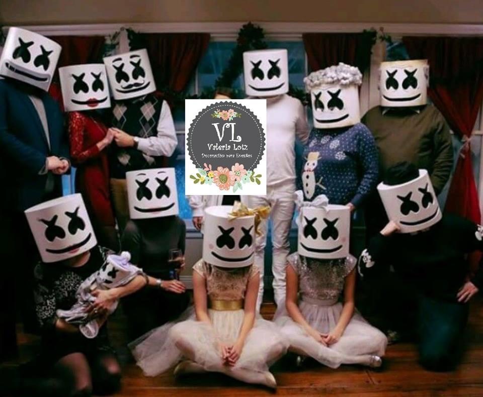 Mascara Casco Marshmello Dj Fortnite