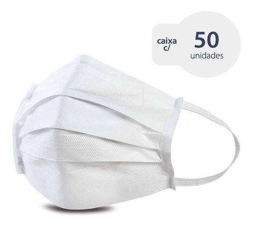máscara cirúrgica descartável tnt40 clipe nasal