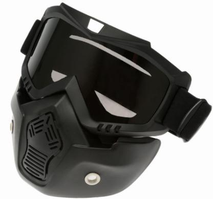 Máscara Com Óculos Moto Capacetes Abertos Google Bike - R  89,90 em ... 5aff63cf01