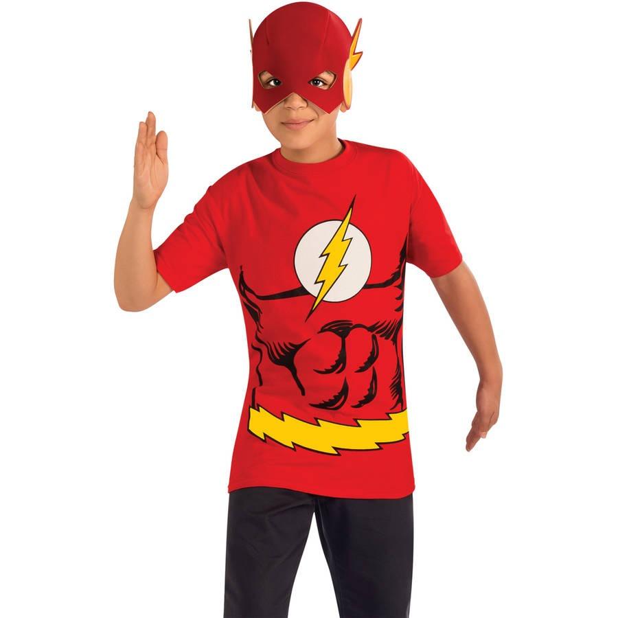 518311992 Máscara Con Camiseta Para Niño Flash Halloween -   131.550 en Mercado Libre