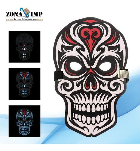 mascara con luz led sensor de sonido 7 modelos x mayor