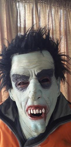 mascara con peluca para carnaval o halloween 1 solo uso