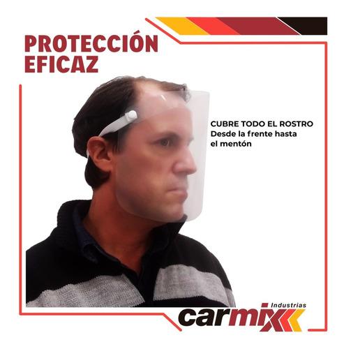 mascara con protector facial con elástico- pack x 5 unidades