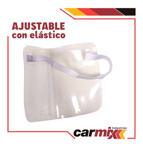 mascara con protector facial con elástico- pack x10unidades