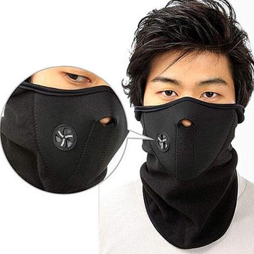 mascara cortaviento bicicleta moto ciclismo térmica ninja