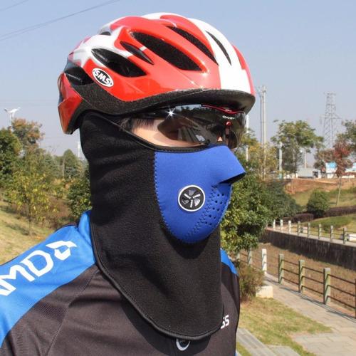 mascara cortaviento bicicleta moto ciclismo térmica rostro