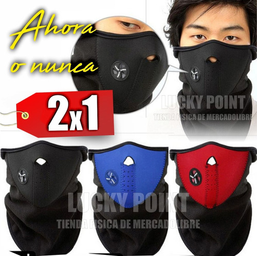 mascara cortaviento ninja p/ bicicleta moto premium original