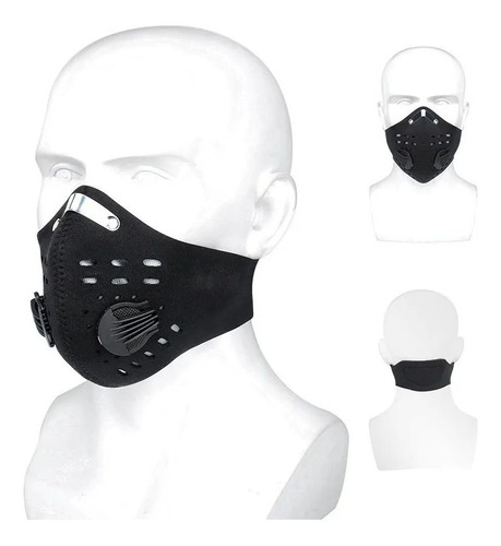 mascara cubrebocas filtro kn95 pm2.5 carbon activado lavable