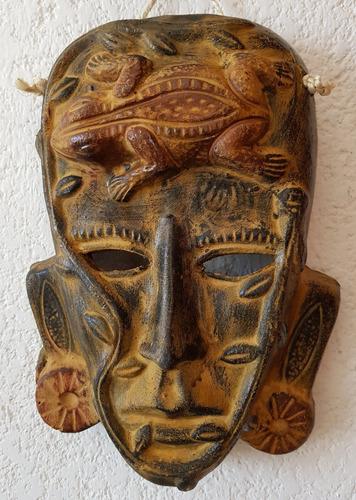 mascara de barro figura prehispanica artesania mexicana 08