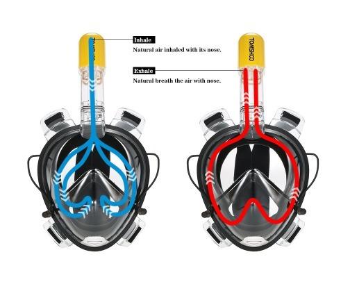 máscara de buceo antiniebla tubo snork natación - (a pedido)