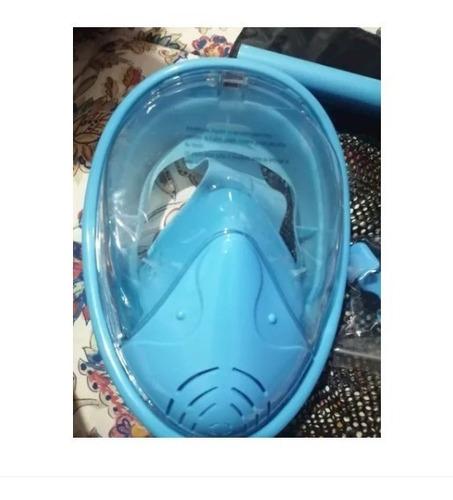 mascara de buceo full face. snorkel facial. talla s
