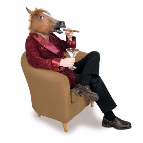 mascara de caballo 3d halowwen fiestas  inc iva y garantia