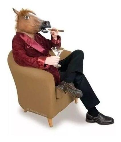 máscara de caballo café cabeza disfraz 41713