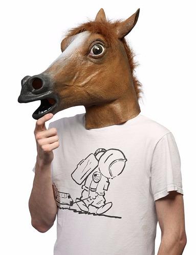 mascara de caballo para disfraz halloween fiestas eventos