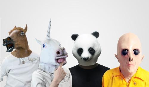 máscara de cabeça de cavalo unicórnio panda et + brinde