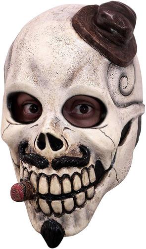 máscara de calavera mexicana macabra de el catrin
