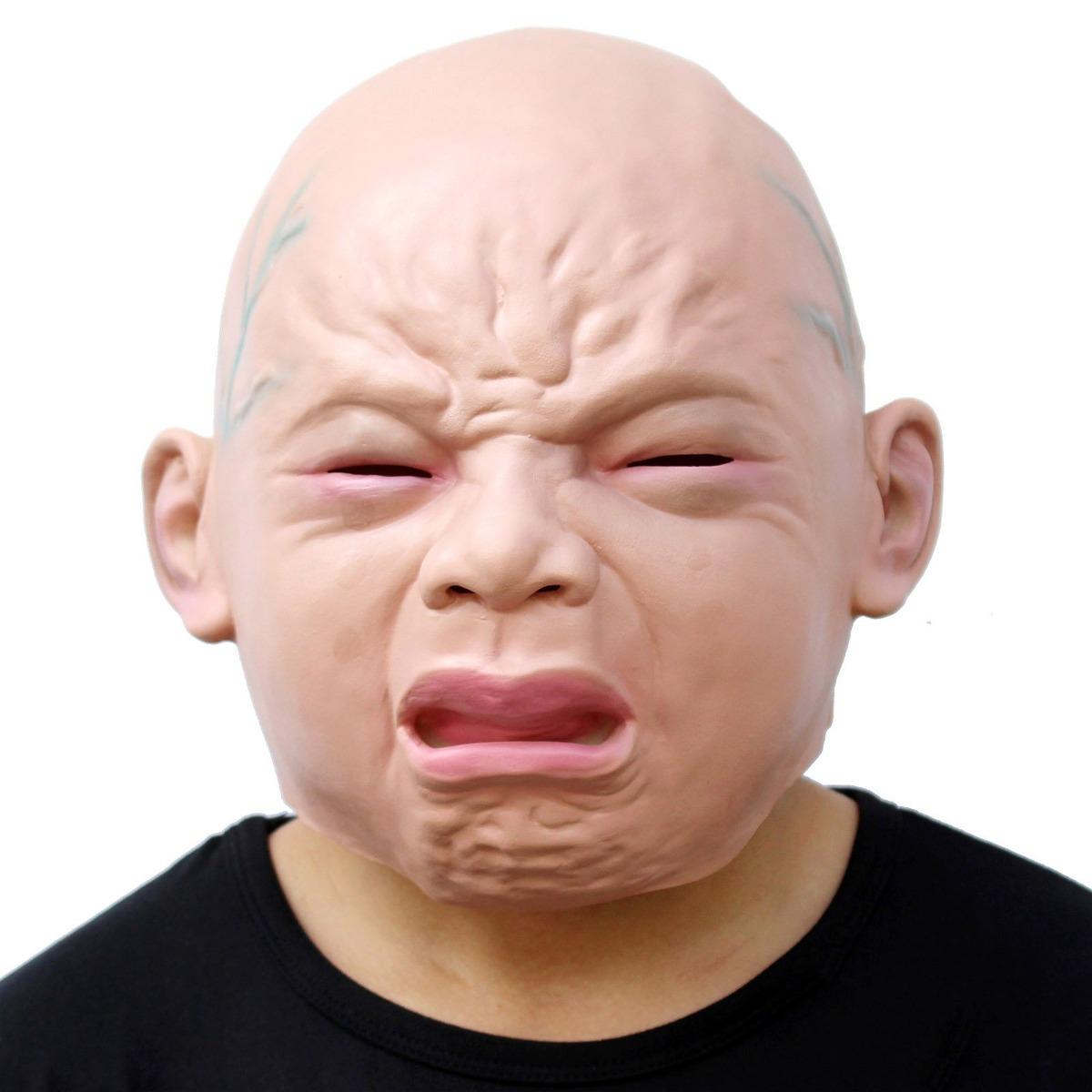 Máscara De Cara De Bebé Llorón Difraz Halloween Adultos 44900
