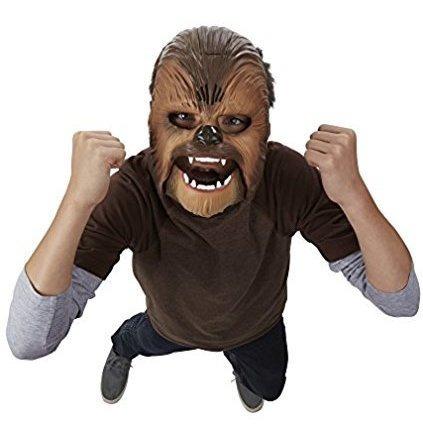 mascara de chewbacca star wars con sonidos - hasbro.