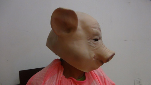 mascara de cochino marrano cerdo en latex