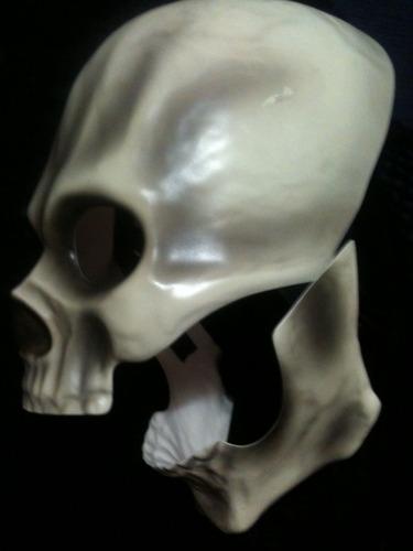 mascara de craneo articulado para niños