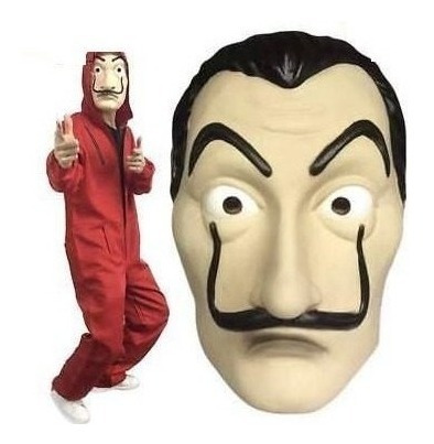 mascara de dali la casa de papel para halloween o fiestas