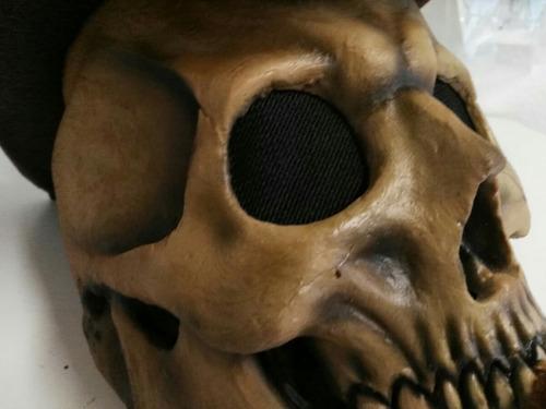 mascara de disfraz halloween de calavera-western