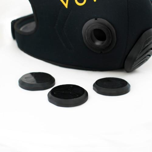 mascara de entrenamiento vork® ,pixel gray, expulsion valve