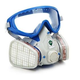 Máscara De Gas De Respirador De Completa Cara De Silicona &