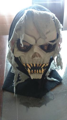 mascara de goma halloween a solo 5 lukitass