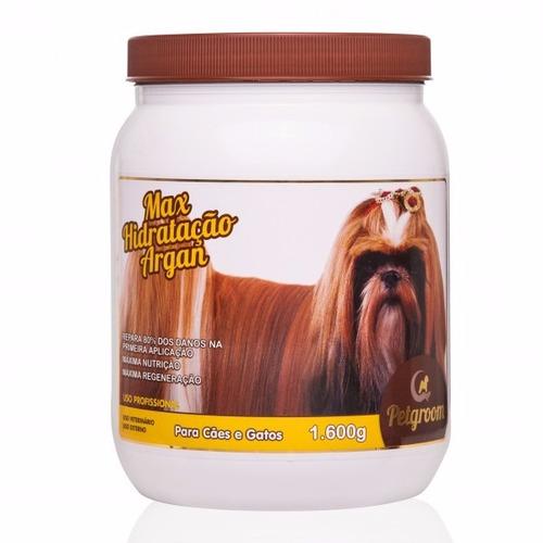mascara de hidratação argan para cães 1.6kg - petgroom