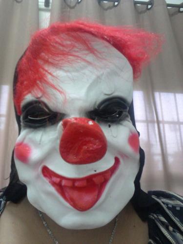 máscara de latex assustadora palhaço assassino terror