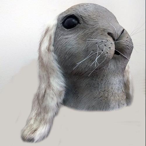 mascara de latex conejo rabbit bug bunny coneja judy hopps