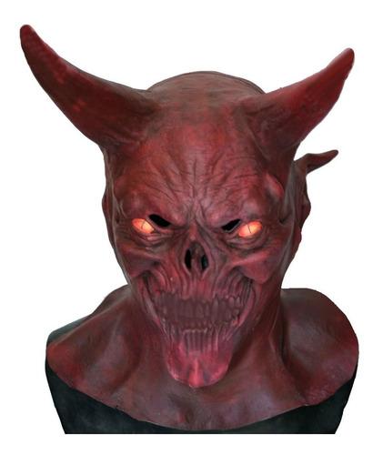 mascara de latex diablo rojo demonio lucifer satan satanas