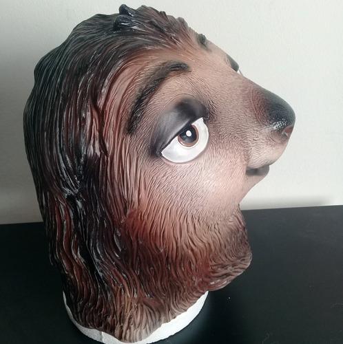mascara de latex perezoso flash zootopia animales disfraz