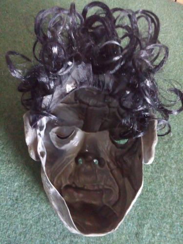 mascara de latex personaje para halloween  con peluca