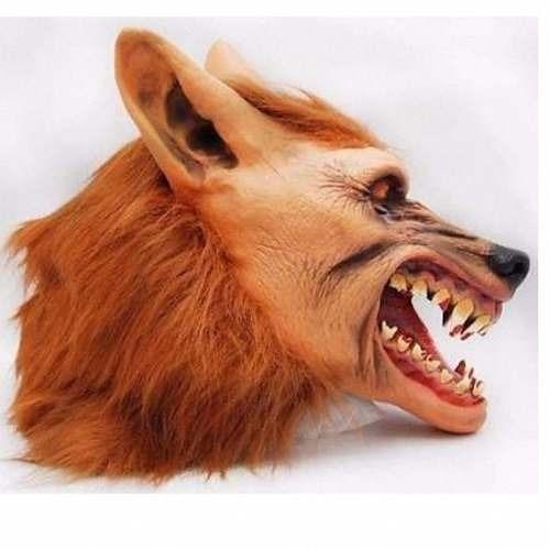 mascara de lobisomem lobo halloween monstro latex fantasia