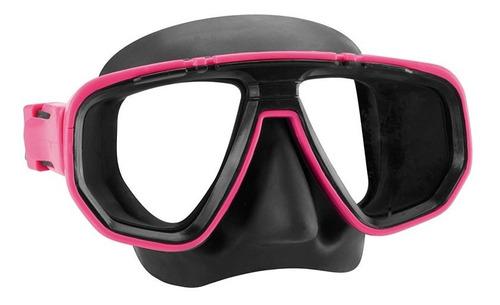 máscara de mergulho dua-rosa siliprene